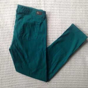 Paige Peg Skinny pants in teal size 31